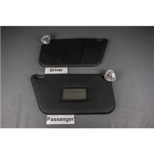 2010-2012 Ford Transit Connect Sun Visor Set w/ Passenger Mirror Black/Gray