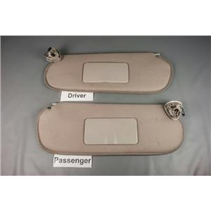 2003-2015 Chevrolet Express Van Sun Visor Set w/ Covered Light Mirrors Cloth
