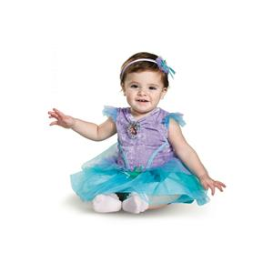Disney Princess Ariel Deluxe Infant Baby Girls Child Costume Size 6-12 months
