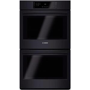 """Bosch 800 Series 30"""" 12 Modes Preheat Double Electric Black Wall Oven HBL8661UC"""