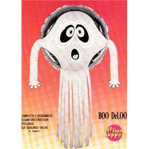 "Beistle Vintage 1988 Ghost Boo DeLoon Walking Helium Hopper Balloon 24"""