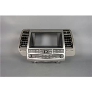 2004-2006 Nissan Maxima Radio Dash Trim Bezel w/ Vents, Audio & Visual Controls