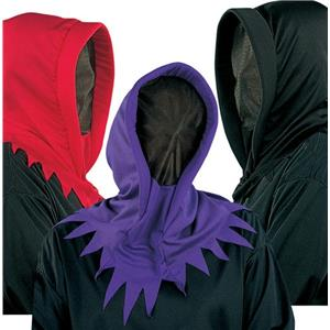 Deluxe Hidden Invisible Face Ghoul Ghost Shadow Man Purple Hood Mask