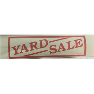 "Large 18"" X 72"" Yard Sale Banner SIGNage Graphics Sign"