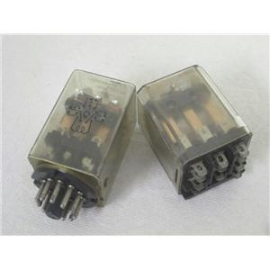 2 Potter & Brumfield KUP14A1524/KUP14A15120 General Purpose Panel Plug-In Relays