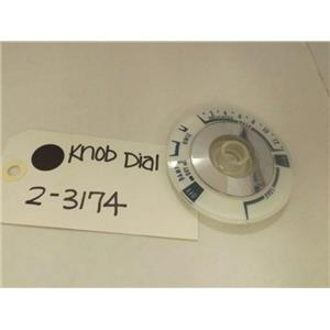 MAYTAG WHIRLPOOL WASHER 2-3174 KNOB DIAL NEW