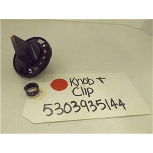 FRIGIDAIRE ELECTROLUX STOVE 5303935144 KNOB & CLIP NEW