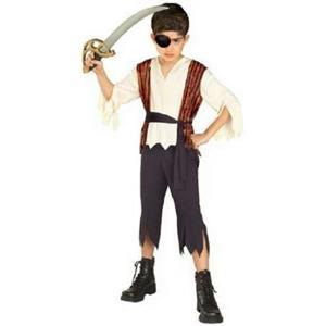 Rubie's Boy's 12142 Buccaneer Pirate Child Costume Size Medium 8-10