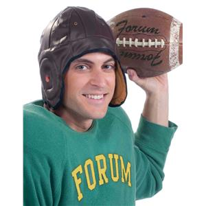 Forum Novelties Vintage Retro Football Player Brown Helmet Costume Accessory