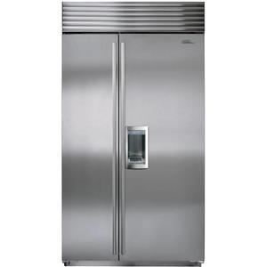 NIB Sub-Zero 42 Inch Stainless Built-in Side-by-Side Refrigerator BI42SDSTH