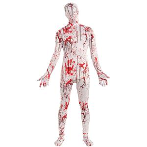 Disappearing Man Bloody Splatter Patterned Stretch Body Suit Costume XL