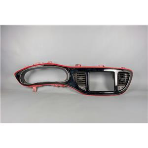 2013-2015 Dodge Dart Dash Trim Bezel with Vents Red & Chrome Trim