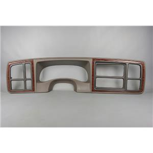 2002 Cadillac Escalade Dash Trim Bezel with Taupe Trim 1.5 Din Opening