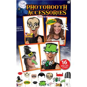 Halloween Party Social Media Photo Booth Fun Signs 16 Different Pieces Kit