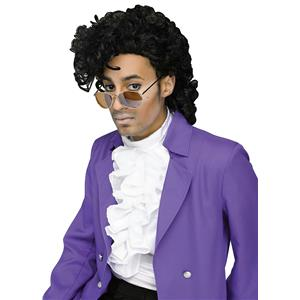 Fun World Mens Black Purple Pain Prince Celebrity Costume Wig