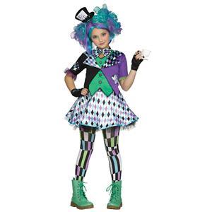 Fun World Girls' Mad Hatter Child Costume XL 14-16