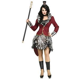 Fun World Women's Freak Show Circus Ringmistress Sexy Adult Costume M/L 10-14