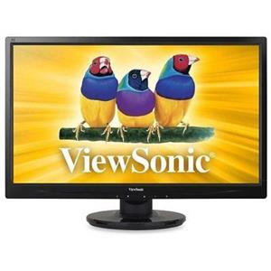 """ViewSonic VA2446m-LED 24\"""" Widescreen LED LCD Monitor, built-in Speakers"""