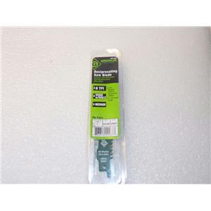 """Greenlee 353-656 6TPI Bi-Metal Taper Reciprocating Saw Blade Wood w/ Nails 6"""" 5p"""
