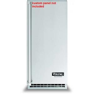 "Viking 15"" SS Ice Maker with 26 lbs. Clear Square Ice Storage Capacity FPIM515"