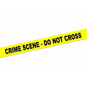 Yellow Crime Scene Do Not Cross Caution Tape Roll Decoration