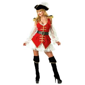 Incharacter Women's Sexy Deluxe Pirate Treasure Adult Costume Large 10-14
