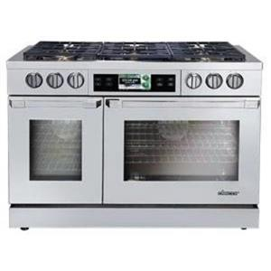 Dacor Discovery iQ 48 Inch Slide-in Dual-Fuel Range Stainless DYRP48DSNGH