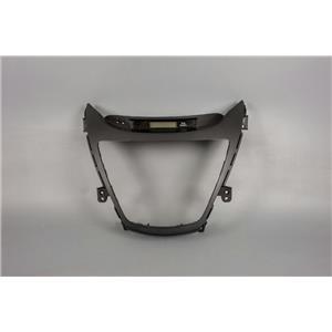 2011-13 Hyundai Elantra Radio Dash Trim Bezel for Smooth Edged Radios with Clock