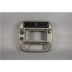 01-04 Explorer Sport Trac Radio Climate Dash Trim Bezel with 4WD Window Switch