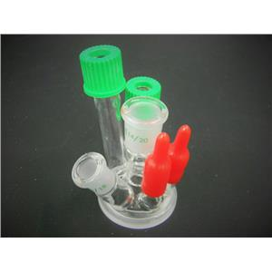 New/Open Box: Chemglass Reaction Vessel Lid 6-Necks Compatible Laboratory Glassware