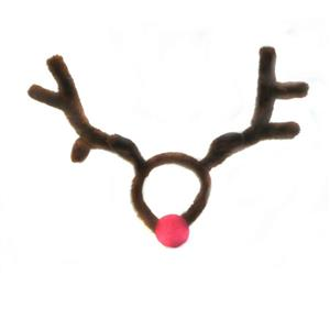 Rudolph the Reindeer Plush Antlers and Nose Costume Kit