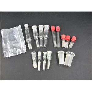 Used: Assorted Adapters Bushing Inlet Thermometer Offsets Connecting Lab Glassware
