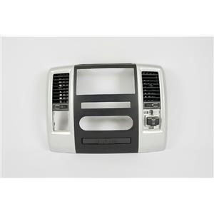 2010-2012 Dodge Ram 1500 Radio Climate Dash Trim Bezel w/ Vents & 115V AC Outlet