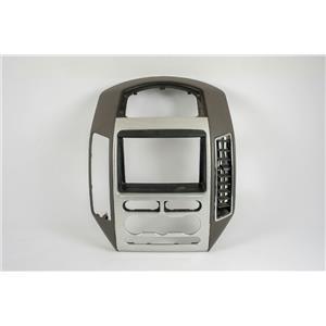 2007-2010 Ford Edge Radio Manual Climate Dash Trim Bezel w/ Silver Pattern Trim