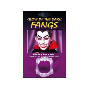 Funworld Fangs Glow In The Dark Plastic Monster Vampire Teeth (3-Pack)