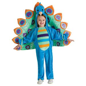 Fancy Deluxe Peacock Bird Child Costume Infant 6-12 months