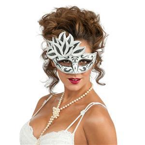 Rubie's Fancy Black and White Venetian Mask Costume Eyemask