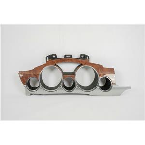 08-12 Buick Enclave Speedometer Cluster Dash Bezel w/ Chrome & Woodgrain Trim