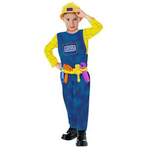 Rubies Boys Junior Builder Handyman Bob Engineer Child Toddler Costume 2-4