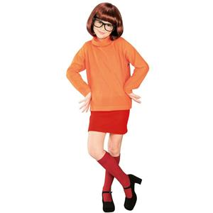 Velma From Scooby Doo Kids Child Costume Small 4-6