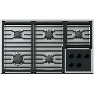 NIB Wolf 36 Inch 5 Dual-Stacked Sealed Burners Transitional Gas Cooktop CG365TS