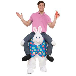 Ride a Easter Bunny Funny Hop On Top Adult Shoulder Rider Costume