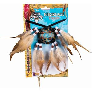 Dream Catcher Indian Necklace Costume Accessory