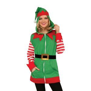 North Pole Christmas Elf Hoodie Santa's Helper Jacket Unisex Adult Size