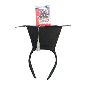 Mini Black Graduation Grad Hat Headband Costume Prop Accessory Celebration