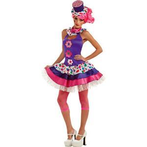 Rubie's Costume Co Women's Jellybean Clown Sexy Adult Costume Large 10-14