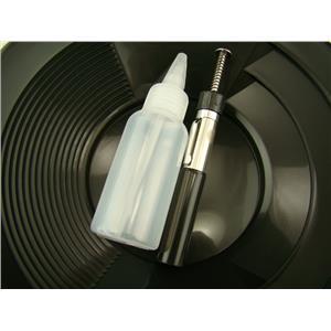 """1- 10"""" Black Gold Pan 1- 5"""" Bottle Snuffer 1-Pocket Magnet Pick up tool"""