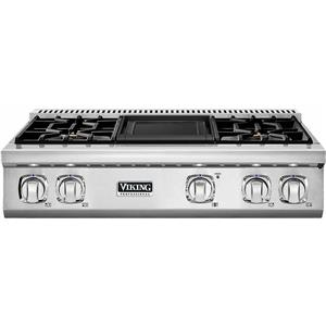 Viking Professional 7 Series 36'' SS Pro-Style Griddle Gas Rangetop VGRT7364GSS