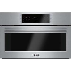 "Bosch Benchmark Series 30"" Non-Plumbed European Convection Steam Oven HSLP451UC"