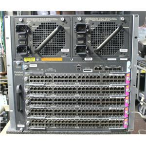 Cisco WS-C4506E-S7L+96V+ Catalyst Switch 1x WS-X45-SUP7L-E, 5x WS-X4648-RJ45V+E